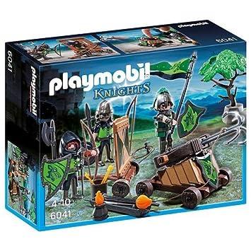 playmobil loup chevaliers avec catapulte - Playmobile Chevalier