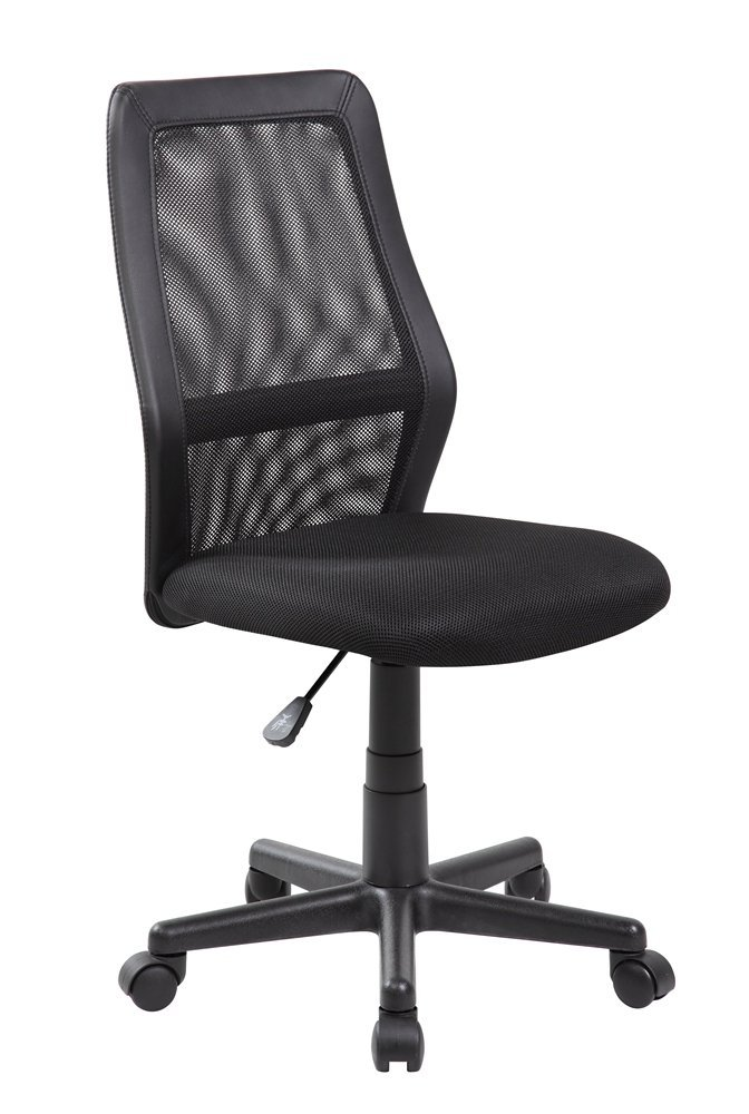 Anji Mid Back Adjustable Armless Computer Office Desk Chair Mesh Black