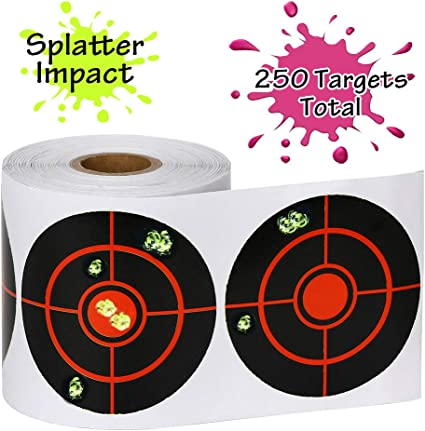100pcs 4/'/' Shooting Adhesive Splatter Target Paper Stickers Paster Trainer