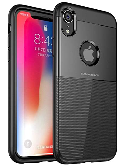 buy popular e08f6 c63b7 Bounceback ® Apple iPhone XR Back Case Cover Shock Proof Armour 2-1 Back  Cover for Apple iPhone XR - Metallic Black