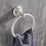 Vintage white aluminum wall-mounted bathroom, towel ring
