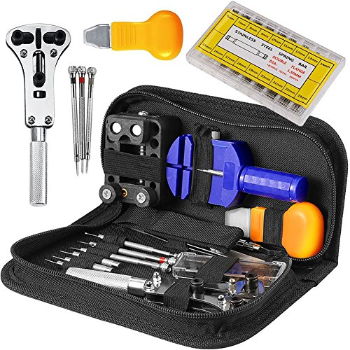 Change Team Spring Tool (Watch Repair Tool Kit Professional - 294 Pcs Watch Band Tool Case Opener Link Remover Spring Bar)