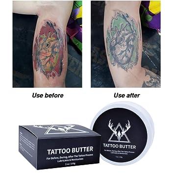 MELAO Cuidado de la mantequilla de tatuaje para antes, duración y ...