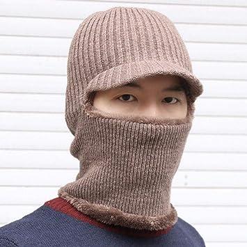 Sombrero Caliente Gorros de Punto Holgados,Máscara de protección ...