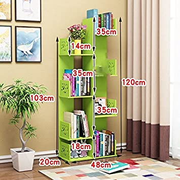 Creative Easy Tree Bookshelf Floor Students Built In Shelf Solid Wood Combination Of Children Admit