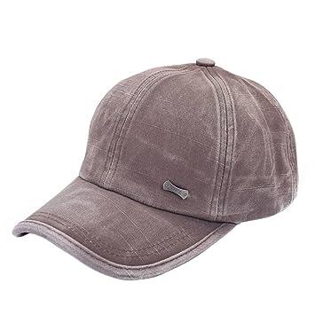 Lorsoul Brown Ocasional Pares Unisex Gorra de béisbol Gorra Lavada Snapback Ajustable de algodón Color sólido Moda: Amazon.es: Hogar