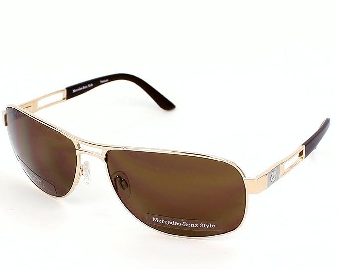diseño atemporal 7c855 a5466 Mercedes-Benz Gafas de Sol M1024A Dorado: Amazon.es: Ropa y ...