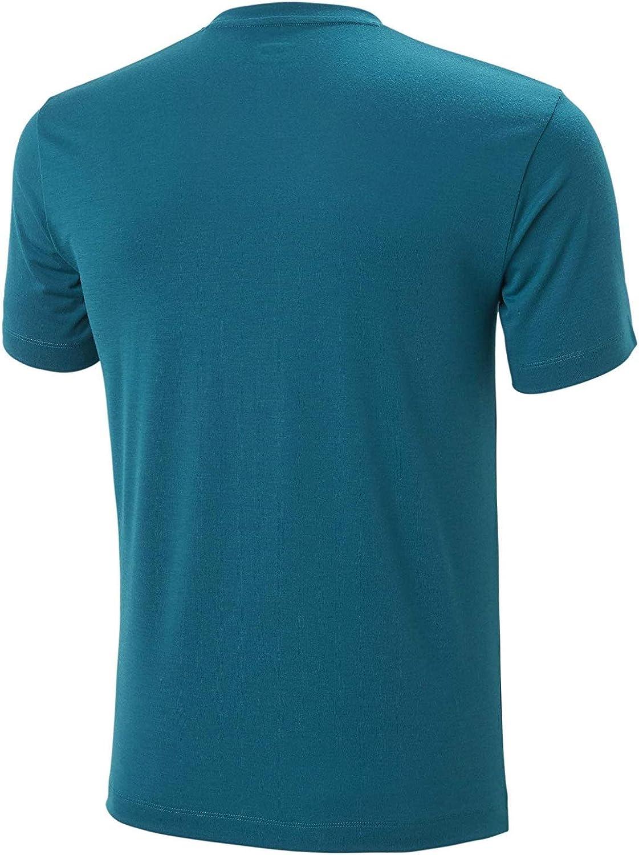 497 Deep Lagoon X-Large Helly-Hansen Mens Skog Graphic Short Sleeve T-Shirt