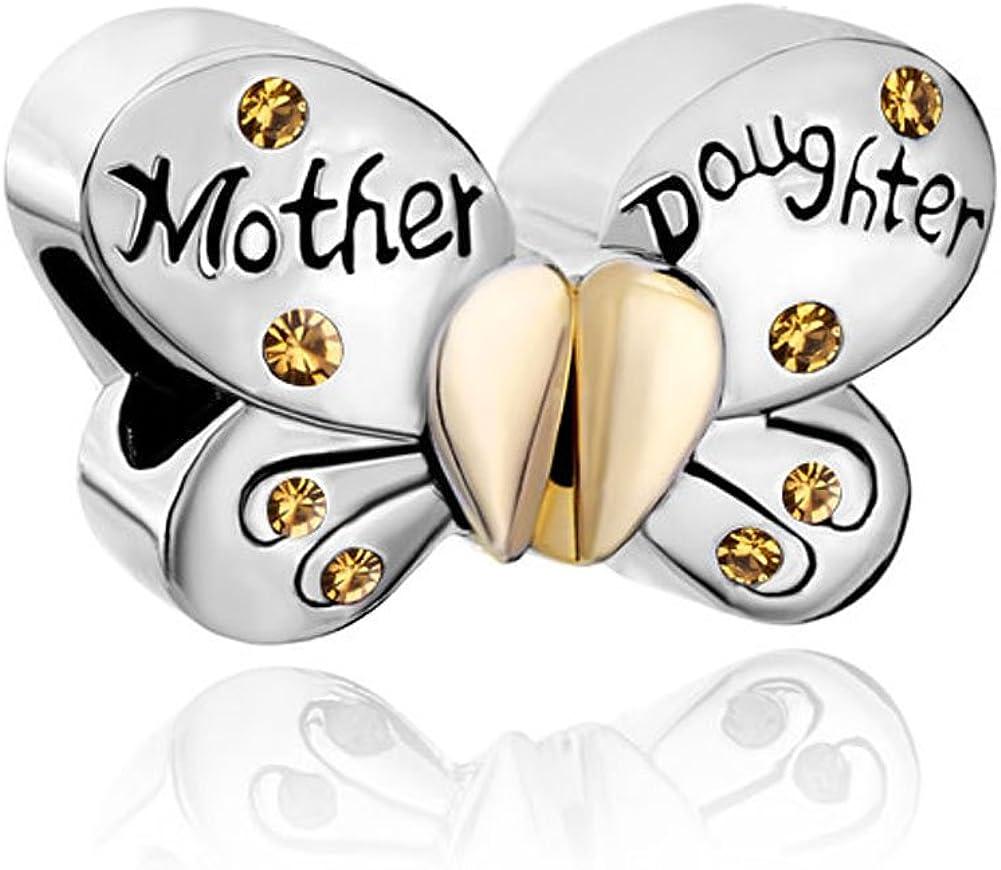 Korliya Meilleure Maman Amour C/œur Perle Charm pour Bracelet