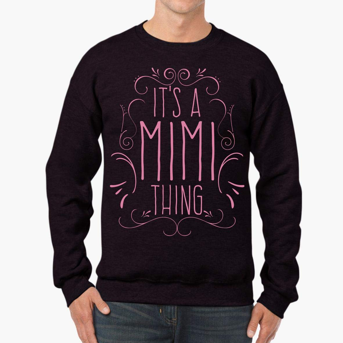 Mother/_s Day Adore Granny Grandma Women/_s Unisex Sweatshirt It/_s A Mimi Thing tee