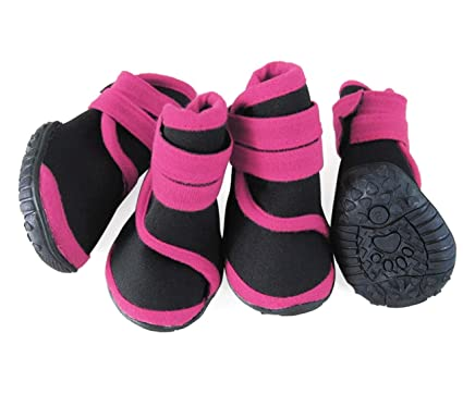 abcGoodefg 4pcs Pet Dog Boots Sneaker Resistant Dog Shoes for Small to  Medium Dogs XS to 6197a8c5d