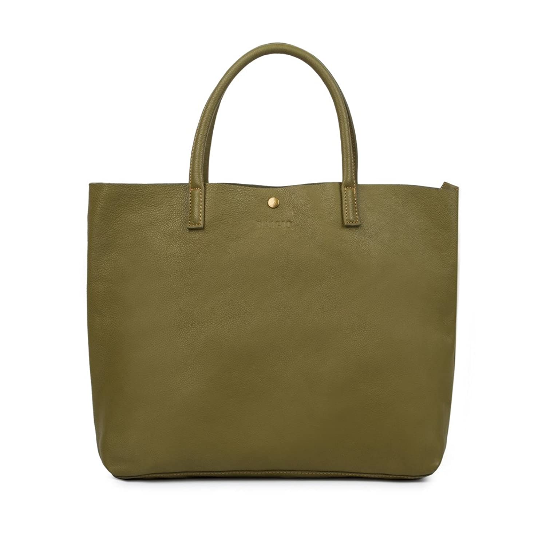 BAIGIO Women's Vintage Genuine Leather Tote Shoulder Bag Handbag