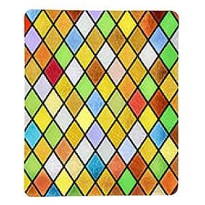 alfombrilla de ratón colorido resumen de antecedentes vidriera - rectangular - 23cm x 19 cm