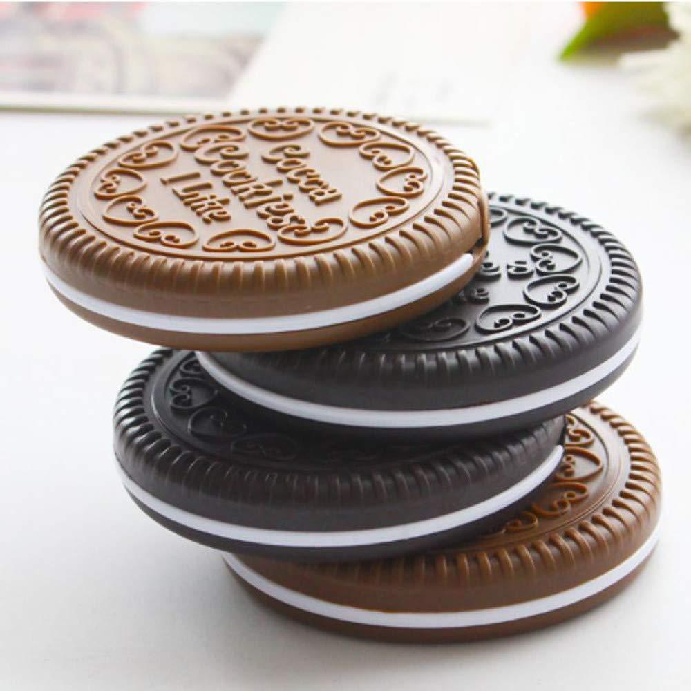 Amazon.com: Mini espejo compacto de galletas de chocolate ...
