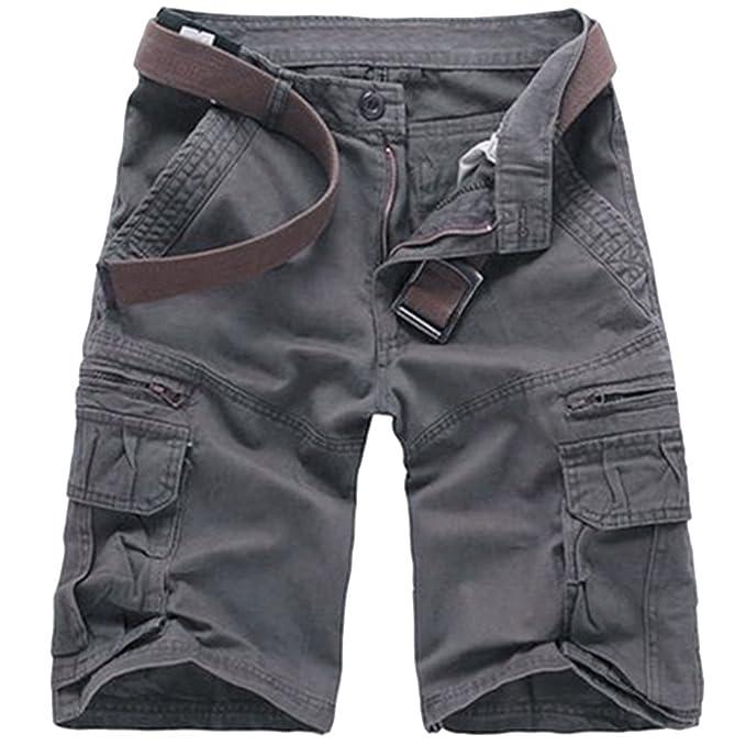 Hombres Verano Pantalones Cortos Carga Multi-Bolsillo Bermuda Cortos  Deporte Shorts Casual Clásico Shorts de Cargo  Amazon.es  Ropa y accesorios de1a6c126287
