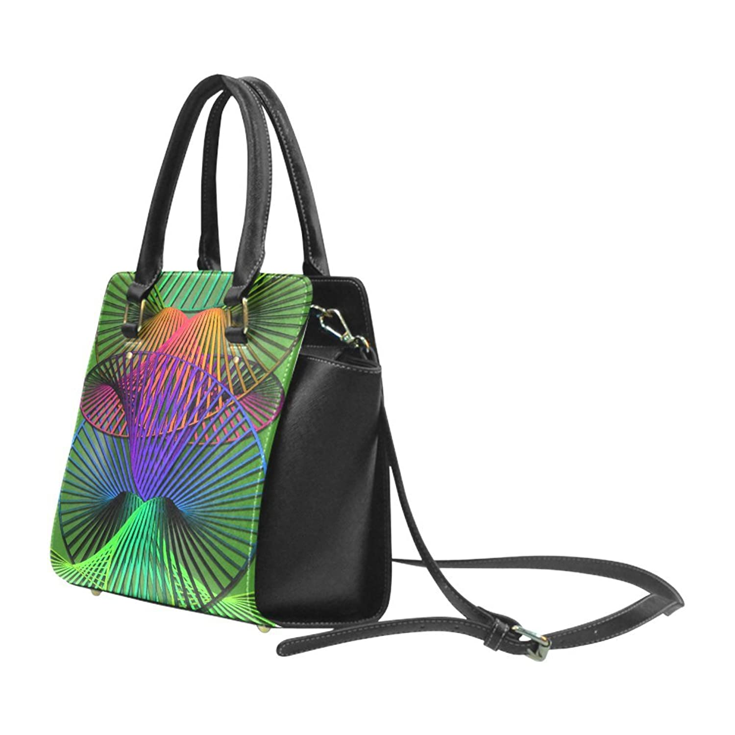 Interestprint Custom Abstract Multicolor Helix Classic Women Top Handbag Shoulder Bag