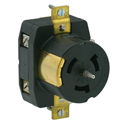 leviton cs6369 50 amp 125 250 volt ac black white locking flush rh amazon com