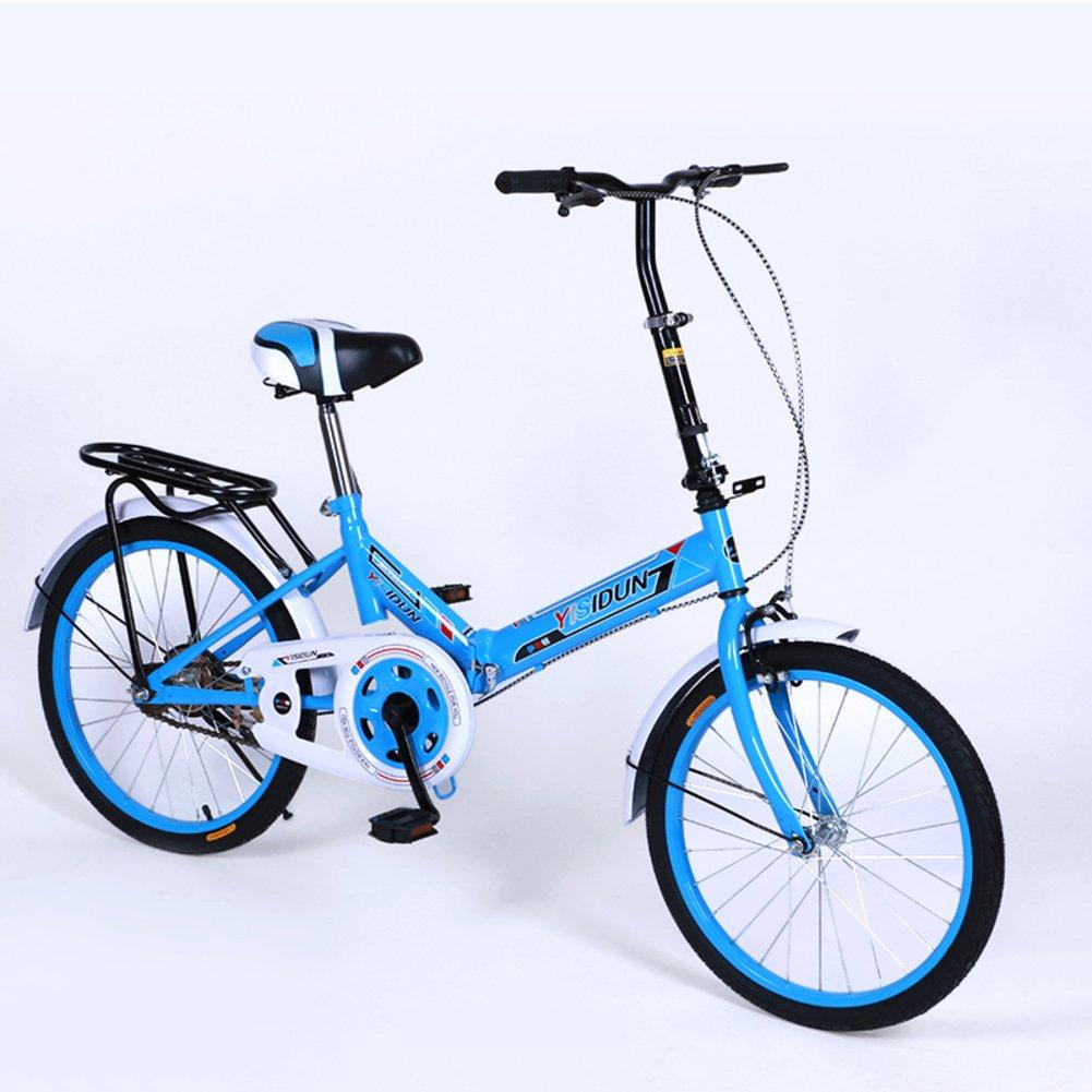 女性 折りたたみ自転車, 大人 折りたたみ自転車 女性自転車 男女 スタイル 学生の車 折りたたみ自転車 B07D2BV57B 20inch|青 青 20inch