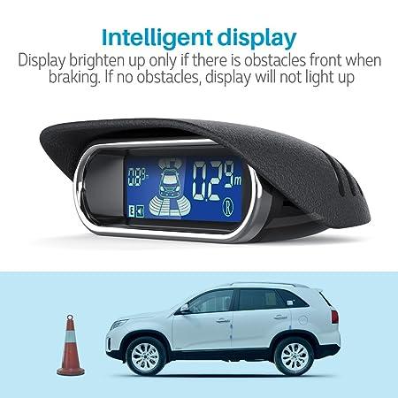 aokur Dual CPU Sensor de aparcamiento, coche vehículo Reverse Backup Sistema de Radar con pantalla LED de 8 sensores de proximidad: Amazon.es: Electrónica