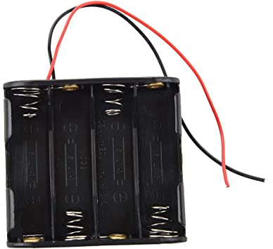 12v Clip Holder Box Case Black Vaorwne 8pcs Aa Cells Battery