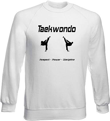 Sudadera por Hombre Blanco WTC1490 Taekwondo Respect: Amazon.es ...