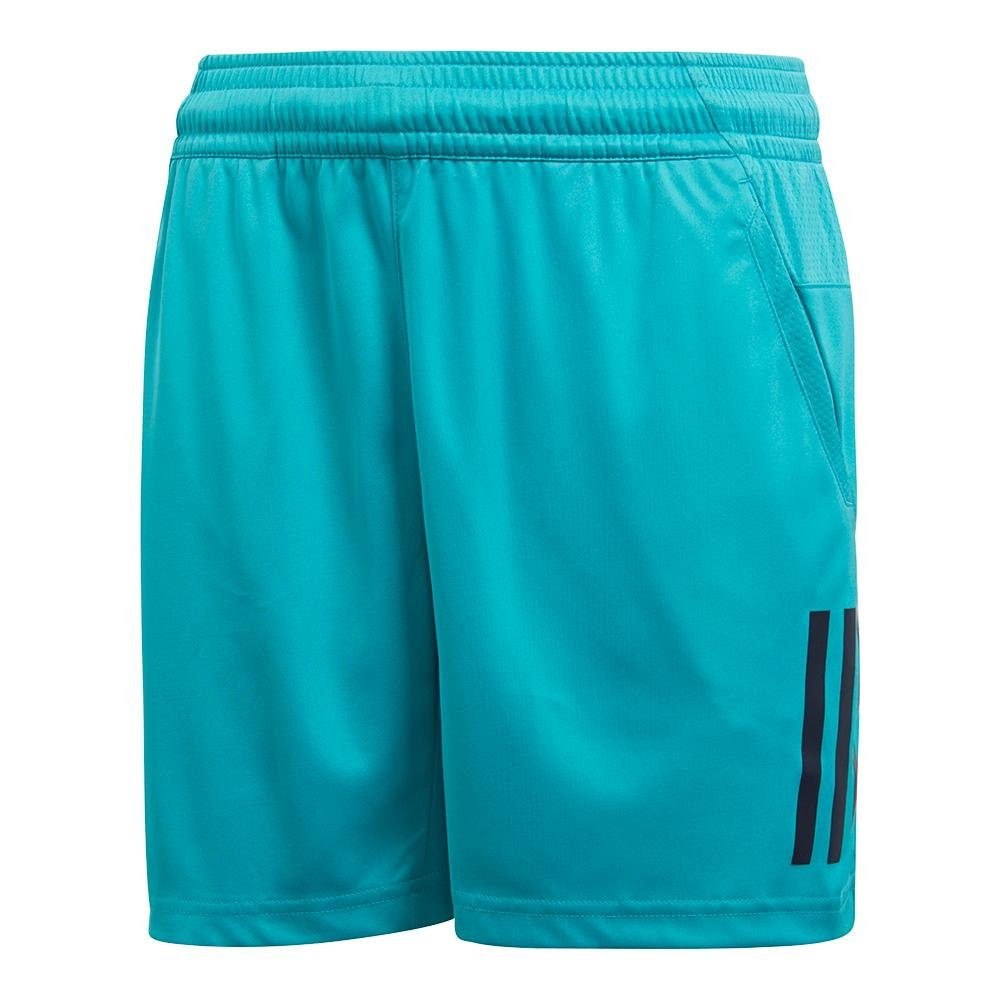 adidas Tennis 3 Stripes Club Shorts, Hi-Res Aqua, X-Large