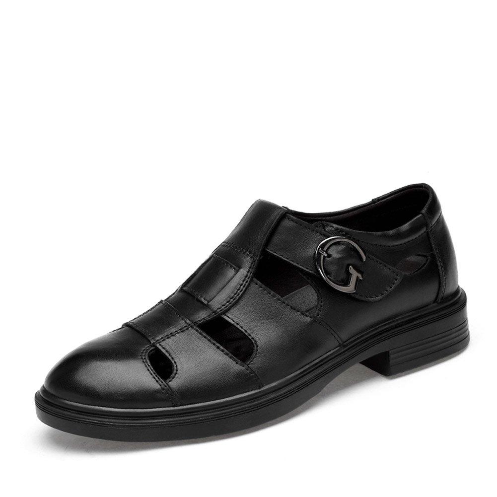 ailishabroy Sommer Schuhe fuuml;r Mauml;nner Oder Frauen Sandalen Aus Schwarzem Leder Atmungsaktiv Loafers  37