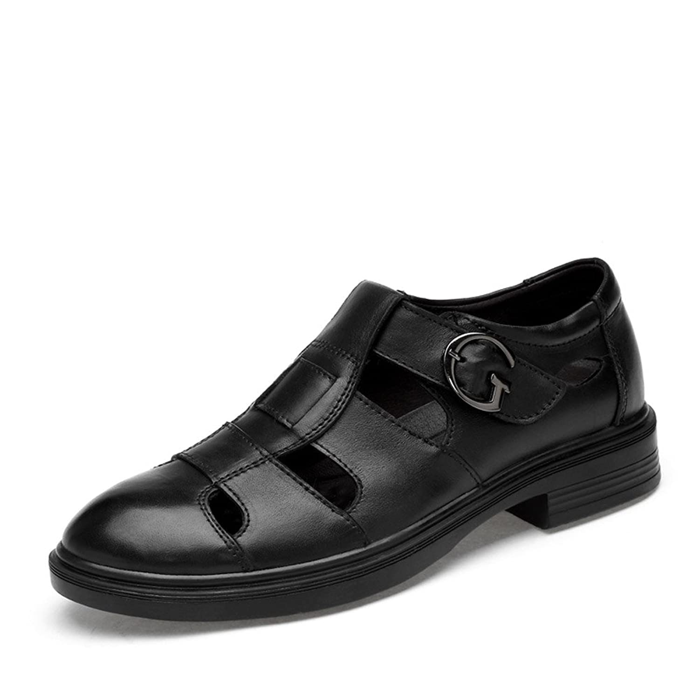 ailishabroy Sommer Schuhe fuuml;r Mauml;nner Oder Frauen Sandalen Aus Schwarzem Leder Atmungsaktiv Loafers  48