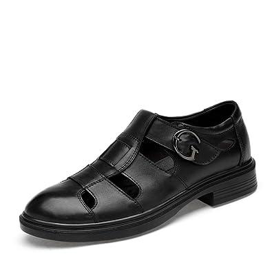 ailishabroy Chaussures Formelles en Cuir à la Mode Pour Hommes (40, Noir)