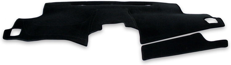 Coverking Custom Fit Dashboard Cover for Select GMC Yukon Denali - Velour (Black)