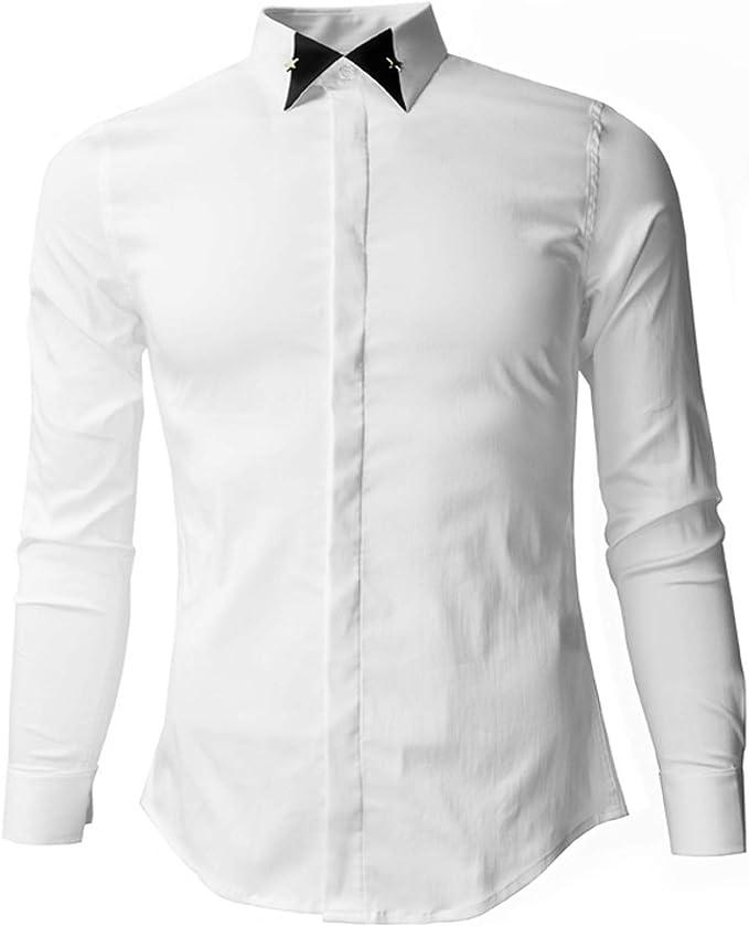 Nuevo Cuello Creativo a Juego de Colores Nueva Camisa de ...