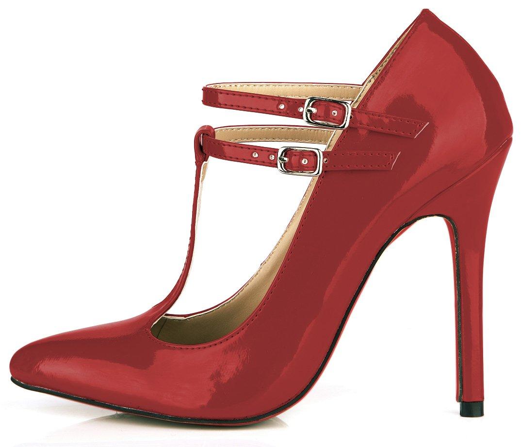 Wine rouge pearl Chaussures femmes le tempérament et le printemps nouveau rouge, noir cuir vernis des boîtes de chaussures les chaussures de talon haut US9   EU40   UK7   CN41
