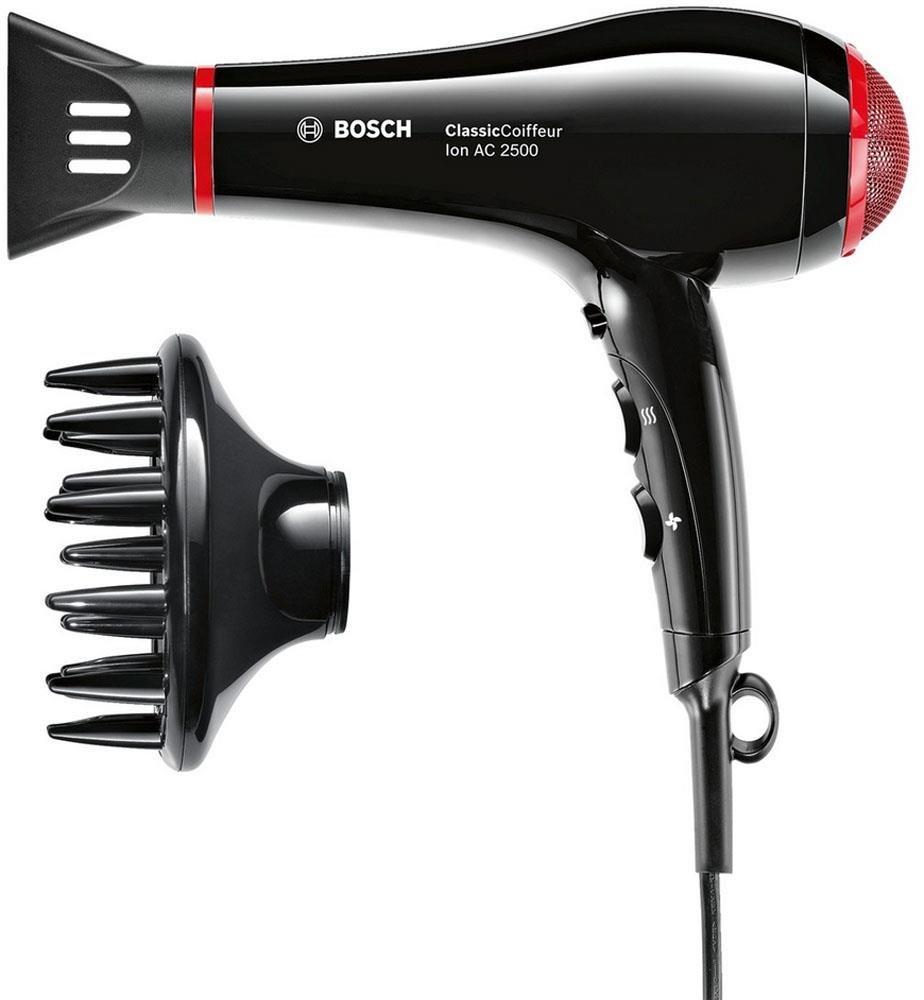 Bosch PHDDI Secador de pelo profesional W generador de iones color negro y rojo