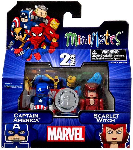 Marvel Minimates Assortments - Captain America/Scarlet Witch by Diamond (Captain America New Costume Marvel Now)