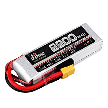 Dron TwoCC, Jhpower 7,4 V 2200 mAh 2S-35 C batería Xt60 Conector ...