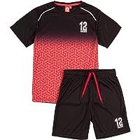 ALPHADVENTURE Go&Win Conjunto Deportivo Manga Corta Rojo y Negro Boavista Jr Para Niño