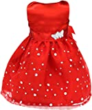 PANYTOW Fashion Sleeveless Party Prom Gown Dress Clothing for 18 Inch AG American Girl Our Generation Dolls Red