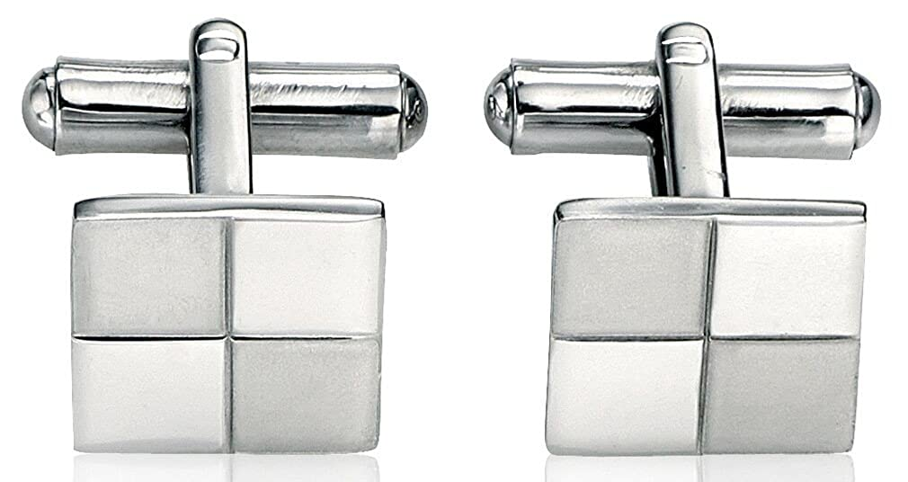 My-jewellery Stainless steel brush and polish fashionable Cufflink
