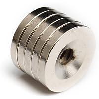 REFURBISHHOUSE 5 piezas de Imanes de disco N52