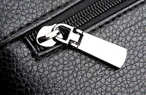 Bolsos De Cuero Bolsos De Hombres Bolsa De Gran Capacidad Suave De Cuero Sobres Casuales Bolsa De Mano Paquete De Moda Brown