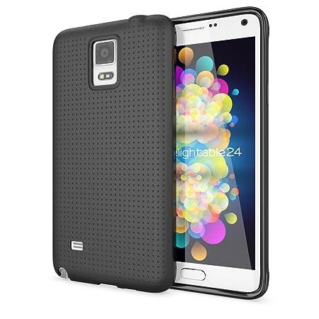 NALIA Handyhülle kompatibel mit Samsung Galaxy Note 4, Ultra-Slim Case Hülle Soft Punkte Schutzhülle Dünn, Etui Handy-Tasche