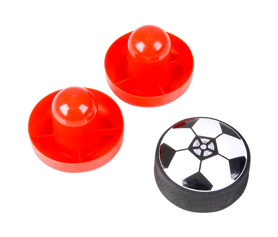 Mozlly Flashing Soccer Air Table Game - Includes 2 Mallets and Ball (3pc Set)