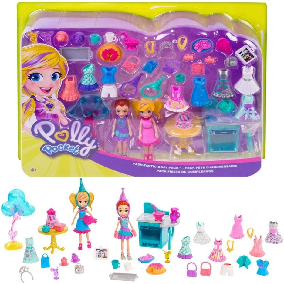 Polly Pocket POLLY Fashion Doll Figure with Clothes /& Accessory NEW