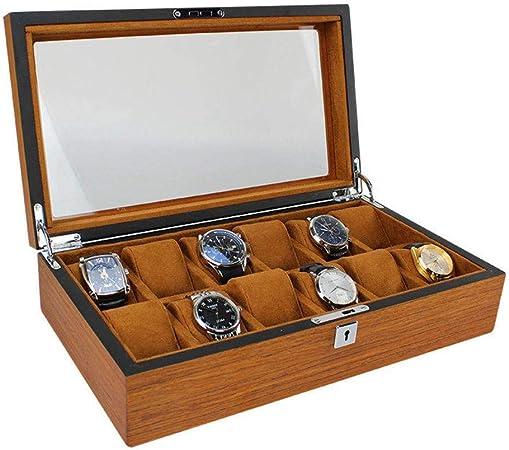 GOVD Caja Relojes Hombre Madera Estuche relojero para almacenar Relojes, para Relojes 12: Amazon.es: Hogar