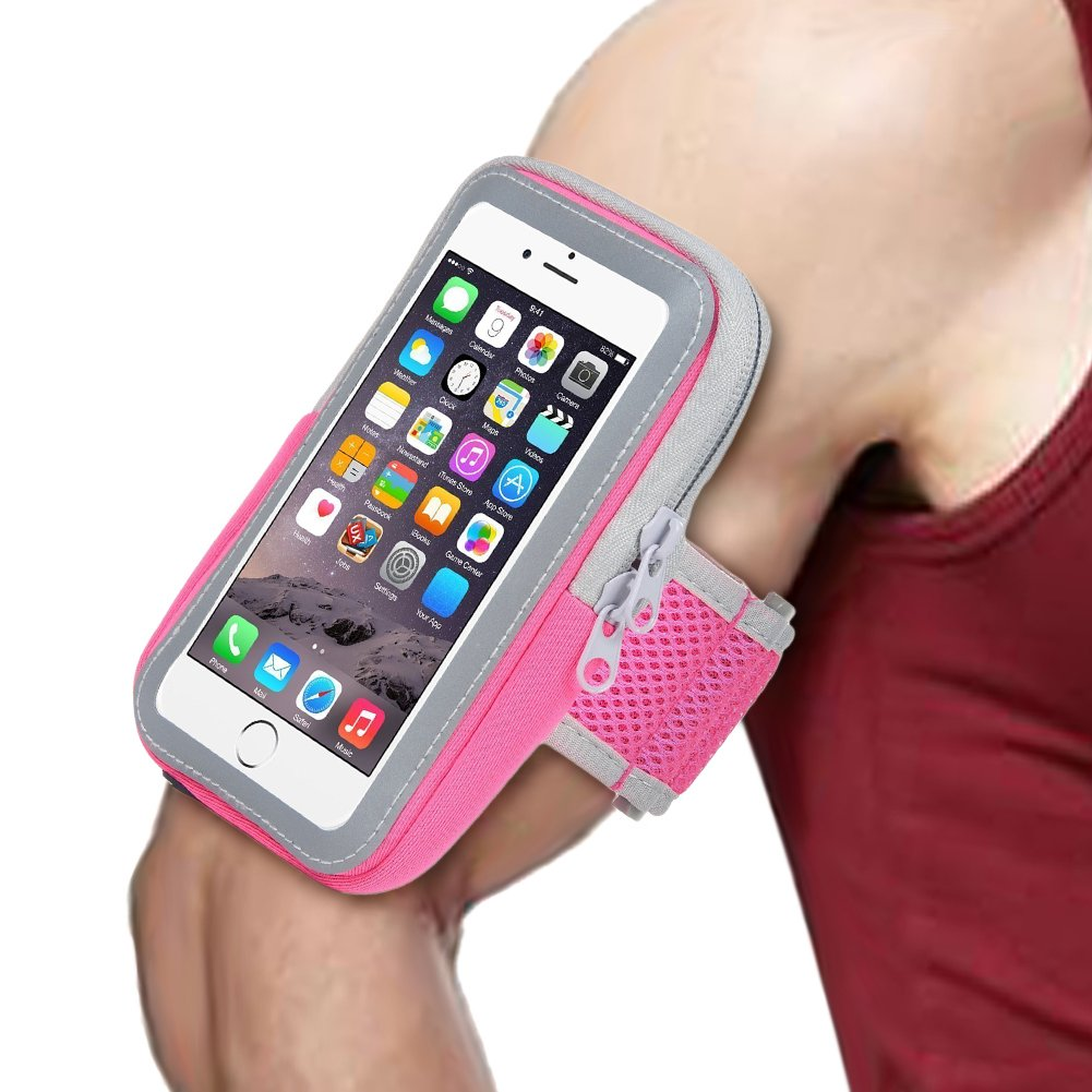 CUZMAK Multifunctional Outdoor Sports Armband Sweatproof Running Armbag Casual Arm Package Bag Gym Fitness Cell Phone Bag Key Holder for iPhone X 8 7Plus 6sPlus Samsung Galaxy Note 5 4 S8 S7 Edge Plus