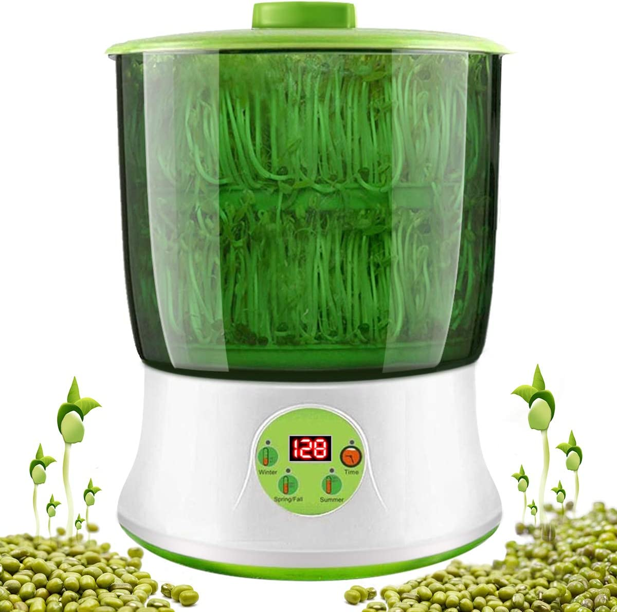 2 Layers Bean Sprout Machine Automatic Sprouting Kit Bean Maker 110V 26*37cm