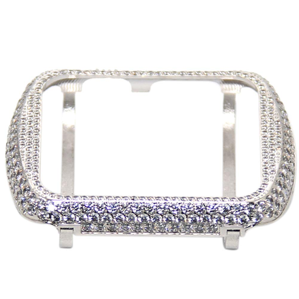 YALTOL for Iwatch/Apple Watch Series 4/3/2/1 Protection Frame with Rhinestone Diamond Metal Case Bezel,40mm,44mm,38mm,42mm,Silver,38mm