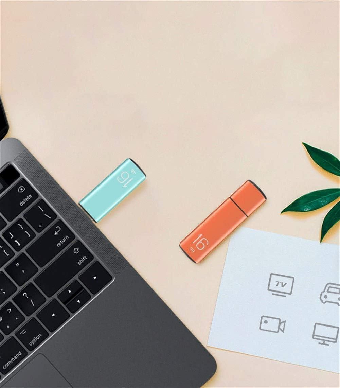 HENGTONGTONGXUN Metal USB Flash Drive Capacity : 16GB, Color : Orange 8G 16G 32G 64G High Speed USB Storage Disk Shockproof Memory Stick Durable