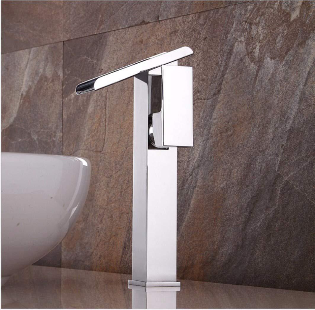 GiiWii Badezimmer Wasserfall Wasserhahn Modern Kupfer Metall Für Waschbecken Warmes Und Kaltes Wasser Mischen