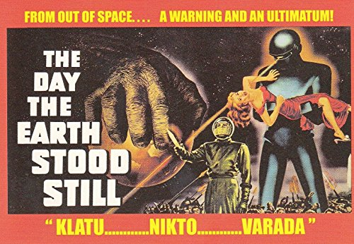 VINTAGE SCI-FI HORROR POSTERS 2006 PROMO CARD PROMO 1 DAY THE EARTH STOOD STILL